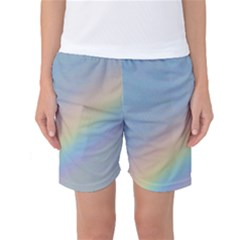 Colorful Natural Rainbow Women s Basketball Shorts