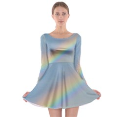 Colorful Natural Rainbow Long Sleeve Skater Dress