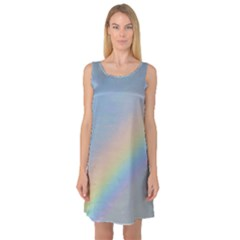 Colorful Natural Rainbow Sleeveless Satin Nightdress