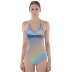Colorful Natural Rainbow Cut Out One Piece Swimsuit