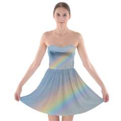 Colorful Natural Rainbow Strapless Dresses