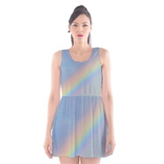 Colorful Natural Rainbow Scoop Neck Skater Dress