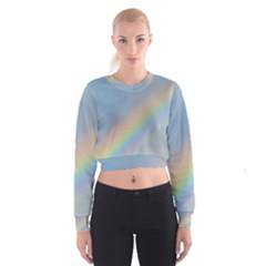 Colorful Natural Rainbow Women s Cropped Sweatshirt