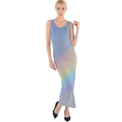 Colorful Natural Rainbow Fitted Maxi Dress