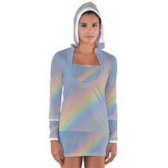 Colorful Natural Rainbow Women s Long Sleeve Hooded T Shirt