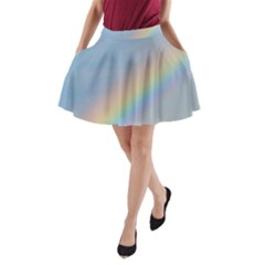 Colorful Natural Rainbow A-Line Pocket Skirt