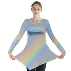 Colorful Natural Rainbow Long Sleeve Tunic