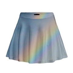 Colorful Natural Rainbow Mini Flare Skirt