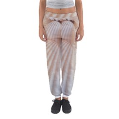 Tropical Romantic Exotic White Sea Shells Women s Jogger Sweatpants