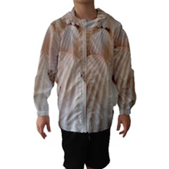 Tropical Romantic Exotic White Sea Shells Hooded Wind Breaker (Kids)
