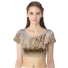 LoL, Lots of Love on The Beach Short Sleeve Crop Top (Tight Fit)
