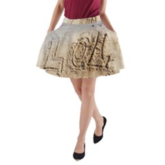 Lol, Lots Of Love On The Beach A Line Pocket Skirt