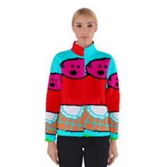 Funny Pig in Summer Red Blue Pink Kids Art Winterwear