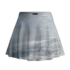Sky Plane View Mini Flare Skirt