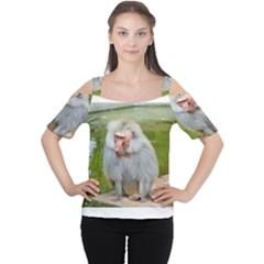 Grey Monkey  Women s Cutout Shoulder Tee