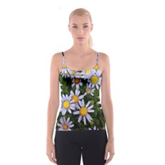 Yellow White Daisy Flowers Spaghetti Strap Top