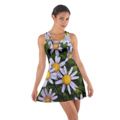 Yellow White Daisy Flowers Racerback Dresses