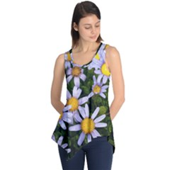 Yellow White Daisy Flowers Sleeveless Tunic