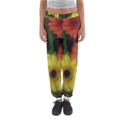 Orange Yellow Flowers Women s Jogger Sweatpants