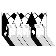 Funny Black And White Stripes Diamonds Arrows #1 Mom 3d Greeting Cards (8x4)