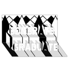 Funny Black and White Stripes Diamonds Arrows Congrats Graduate 3D Greeting Card (8x4)