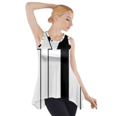 Funny Black And White Stripes Diamonds Arrows Side Drop Tank Tunic