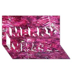 Festive Hot Pink Glitter Merry Christmas Tree  Merry Xmas 3D Greeting Card (8x4)
