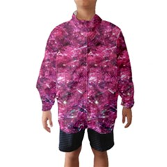 Festive Hot Pink Glitter Merry Christmas Tree  Wind Breaker (Kids)