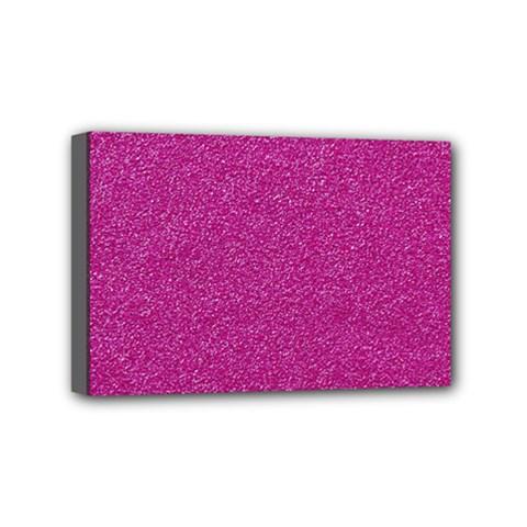 Metallic Pink Glitter Texture Mini Canvas 6  x 4