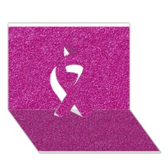 Metallic Pink Glitter Texture Ribbon 3d Greeting Card (7x5)