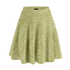Festive White Gold Glitter Texture High Waist Skirt