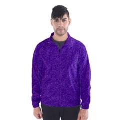 Festive Purple Glitter Texture Wind Breaker (men)
