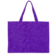 Festive Purple Glitter Texture Large Tote Bag