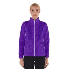 Festive Purple Glitter Texture Winterwear
