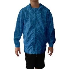 Festive Blue Glitter Texture Hooded Wind Breaker (kids)