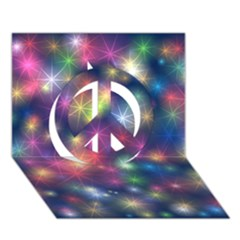 Starlight Shiny Glitter Stars Peace Sign 3D Greeting Card (7x5)