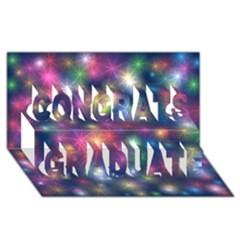 Starlight Shiny Glitter Stars Congrats Graduate 3d Greeting Card (8x4)