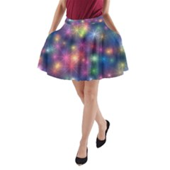 Starlight Shiny Glitter Stars A-Line Pocket Skirt