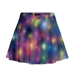 Starlight Shiny Glitter Stars Mini Flare Skirt