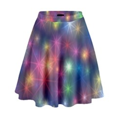 Starlight Shiny Glitter Stars High Waist Skirt