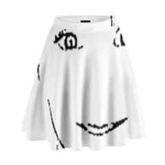 Portrait Black And White Girl High Waist Skirt
