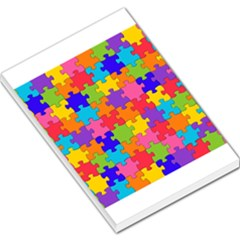 Funny Colorful Puzzle Pieces Large Memo Pads