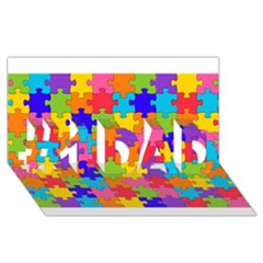 Funny Colorful Puzzle Pieces #1 DAD 3D Greeting Card (8x4)