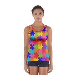 Funny Colorful Puzzle Pieces Tops