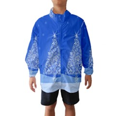 Blue White Christmas Tree Wind Breaker (kids)