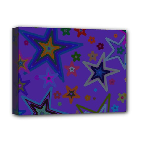 Purple Christmas Party Stars Deluxe Canvas 16  x 12
