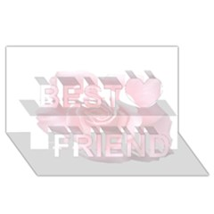 Pink White Love Rose Best Friends 3d Greeting Card (8x4)
