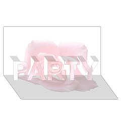 Pink White Love Rose Party 3d Greeting Card (8x4)