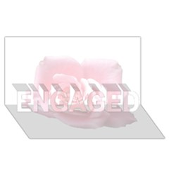 Pink White Love Rose ENGAGED 3D Greeting Card (8x4)
