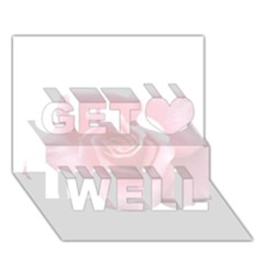 Pink White Love Rose Get Well 3d Greeting Card (7x5)